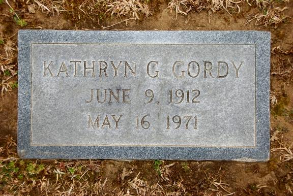 Kathryn Greene Gordy's Foot Stone